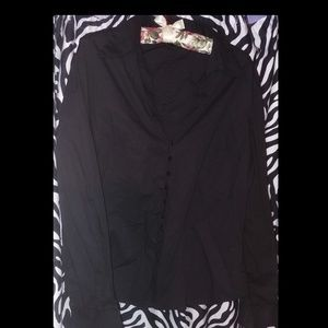 The Limited Black Stretch Button Down (L)